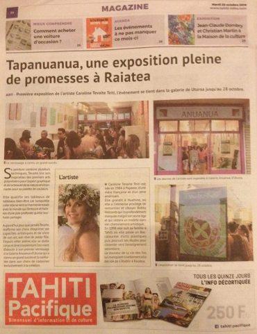 Tahiti Info, octobre 2016