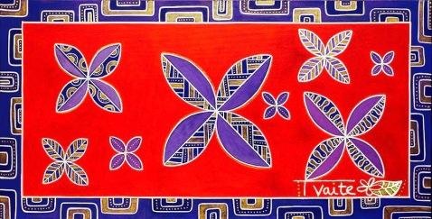 50X100 cm, technique mixte (peinture acrylique et marqueurs sur toile)