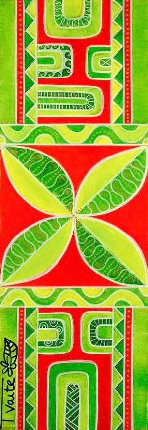30X90 cm, technique mixte (peinture acrylique et marqueurs sur toile)